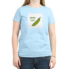 Peas Out... Peace Out! Women's Pink T-Shirt