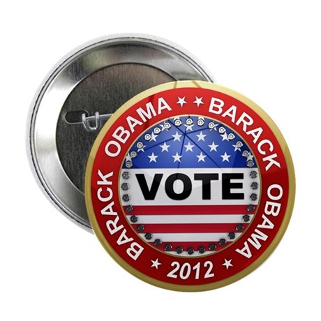 "Vote Barack Obama for president 2.25"" Button (10 p"