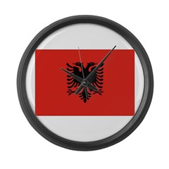 Albania Flag Large Wall Clock