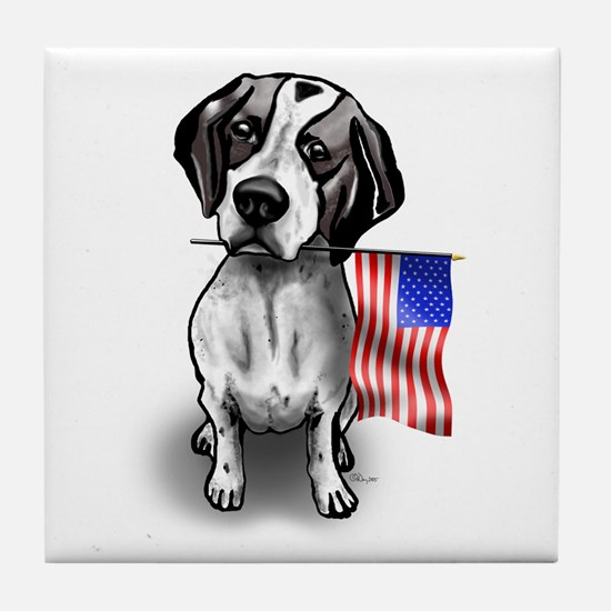 4th of July Pointer Tile Coaster