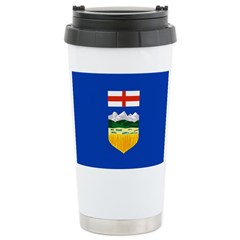 Alberta Flag Stainless Steel Travel Mug