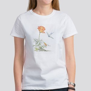 CALIFORNIA POPPY & SWALLOW - Women's T-Shirt