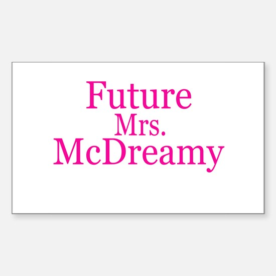 Future Mrs. McDreamy Rectangle Decal