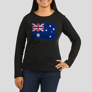 Australia Flag Women's Long Sleeve Dark T-Shirt