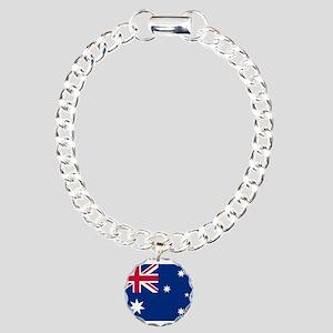 Australia Flag Charm Bracelet, One Charm