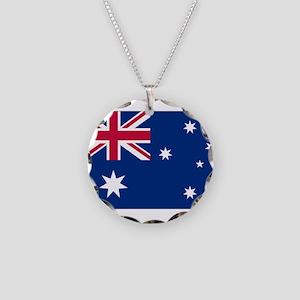Australia Flag Necklace Circle Charm