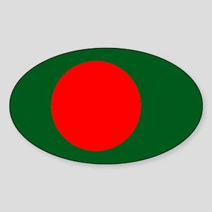 Bangladesh Flag Sticker (Oval)