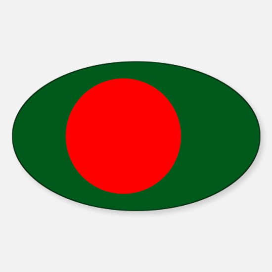 Bangladesh Flag Sticker (Oval)