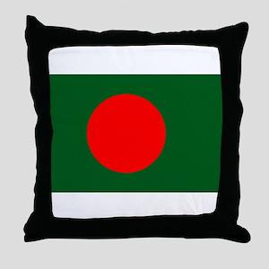 Bangladesh Flag Throw Pillow