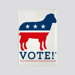 Sheep Vote! Rectangle Magnet