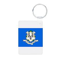 Connecticut Flag Keychains