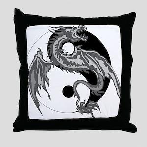 Yin Yan Symbol Throw Pillow
