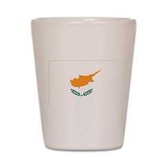 Cyprus Flag Shot Glass
