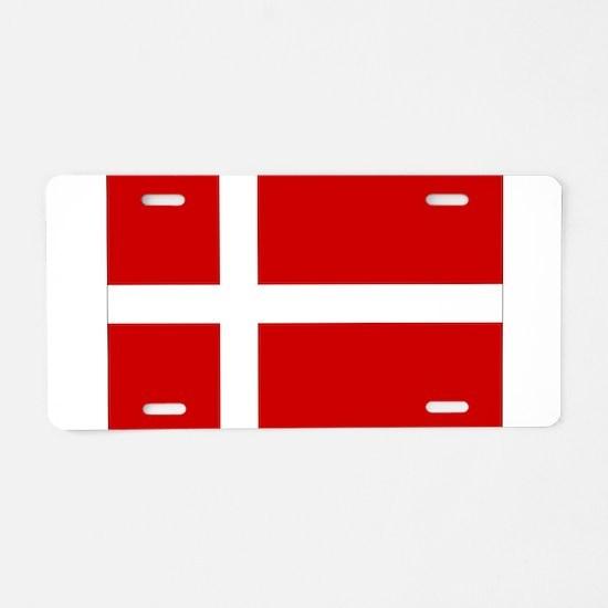 Denmark Flag Aluminum License Plate