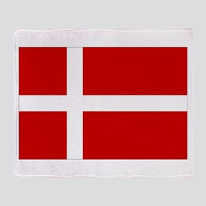 Denmark Flag Throw Blanket