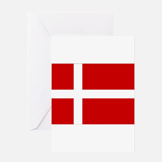 Denmark Flag Greeting Card