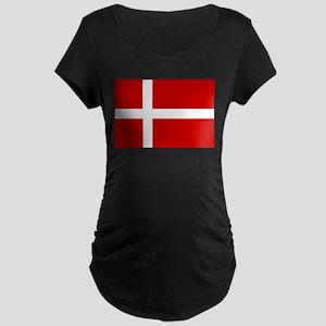 Denmark Flag Maternity Dark T-Shirt