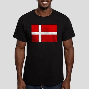 Denmark Flag Men's Fitted T-Shirt (dark)