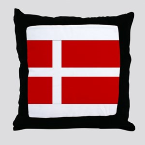 Denmark Flag Throw Pillow