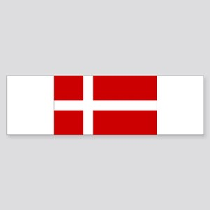 Denmark Flag Sticker (Bumper)