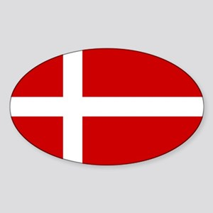 Denmark Flag Sticker (Oval)