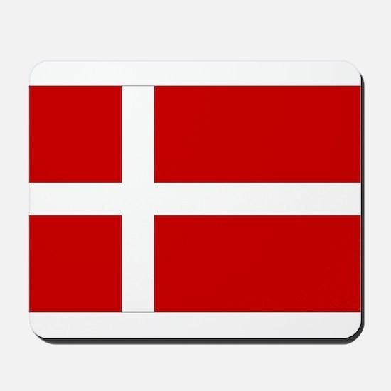 Denmark Flag Mousepad
