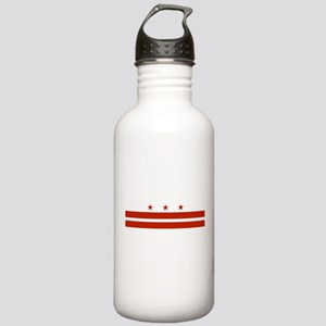 District of Columbia Flag Stainless Water Bottle 1
