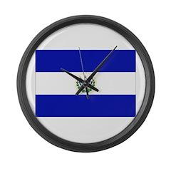 El Salvador Flag Large Wall Clock