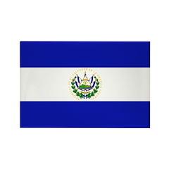 El Salvador Flag Rectangle Magnet (10 pack)