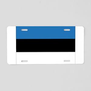 Estonia Flag Aluminum License Plate