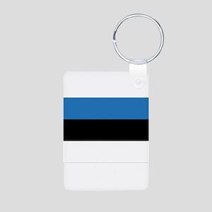 Estonia Flag Aluminum Photo Keychain