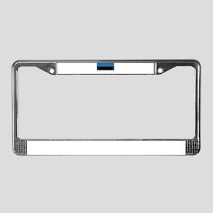 Estonia Flag License Plate Frame