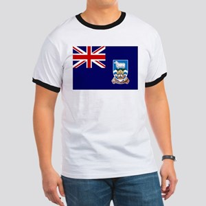 Falkland Islands Flag Ringer T