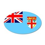 Fiji Flag 38.5 x 24.5 Oval Wall Peel