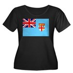 Fiji Flag Women's Plus Size Scoop Neck Dark T-Shir