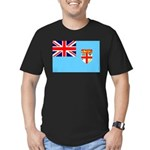Fiji Flag Men's Fitted T-Shirt (dark)