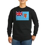 Fiji Flag Long Sleeve Dark T-Shirt