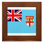 Fiji Flag Framed Tile