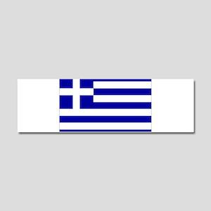 Greece Flag Car Magnet 10 x 3