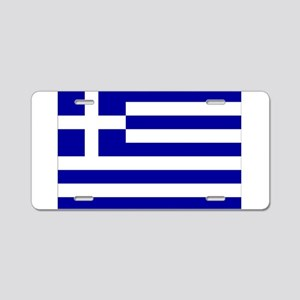 Greece Flag Aluminum License Plate