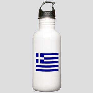 Greece Flag Stainless Water Bottle 1.0L