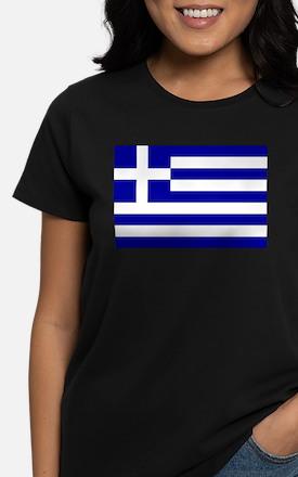 Greece Flag Women's Dark T-Shirt