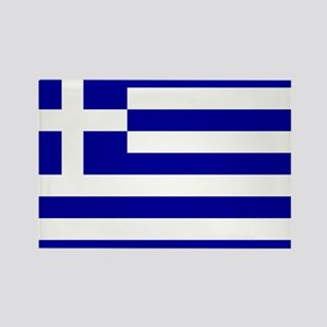Greece Flag Rectangle Magnet