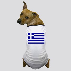 Greece Flag Dog T-Shirt