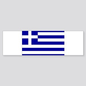 Greece Flag Sticker (Bumper)