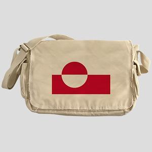 Greenland Flag Messenger Bag