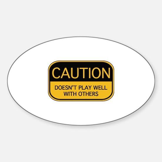 CAUTION Sticker (Oval)