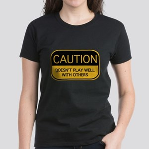 CAUTION Women's Dark T-Shirt