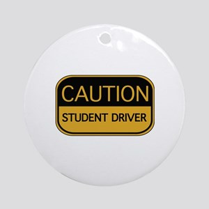 CAUTION Student Driver Ornament (Round)