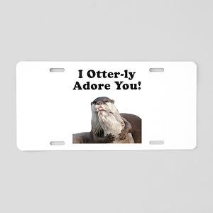 Otterly Adore Aluminum License Plate